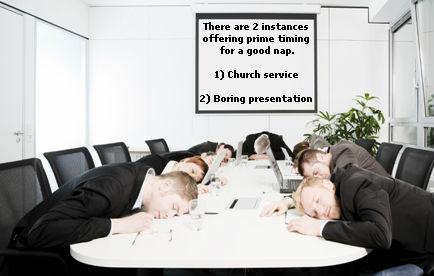 Boring presentations